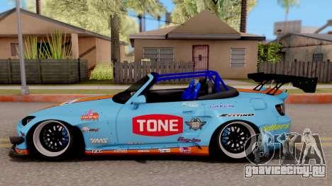 Honda S2000 Pandem Gulf Racing для GTA San Andreas вид слева