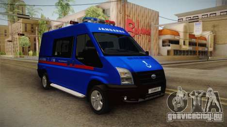 Ford Transit Turkish Gendarmerie для GTA San Andreas вид справа