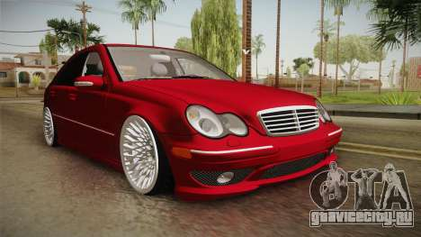 Mercedes-Benz C32 AMG Stanced для GTA San Andreas вид справа