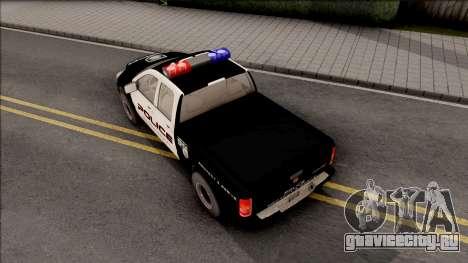 Dodge Ram High Speed Police для GTA San Andreas вид сзади