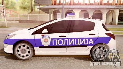 Peugeot 308 Policija для GTA San Andreas вид слева