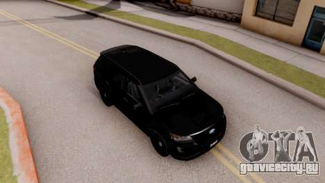 Ford Explorer FBI для GTA San Andreas вид справа