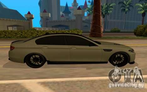 BMW M5 F10 для GTA San Andreas вид слева