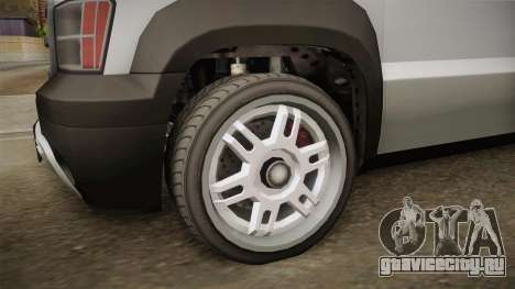 GTA 5 Declasse Granger Pickup для GTA San Andreas вид сзади