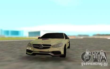 Brabus S63 для GTA San Andreas вид сзади