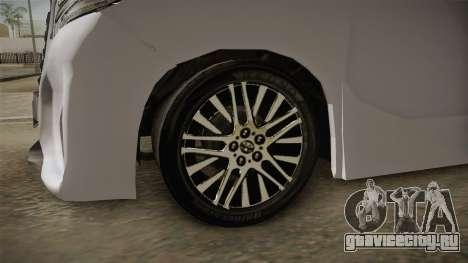 Toyota Alphard 3.5G 2015 v2 для GTA San Andreas вид сзади