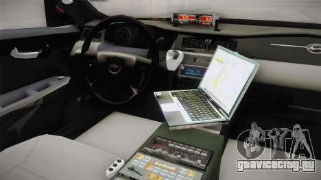 Chevrolet Impala 2009 Airport Authority для GTA San Andreas вид изнутри