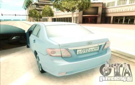 Toyota Corolla E150 для GTA San Andreas вид справа