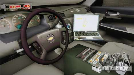 Chevrolet Impala 2009 LSPD для GTA San Andreas вид изнутри