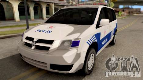 Dodge Grand Caravan Turkish Police для GTA San Andreas