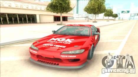 Nissan Silvia S15 NGK Red для GTA San Andreas вид сзади