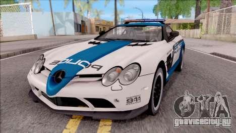 Mercedes-Benz McLaren 722 High Speed Police для GTA San Andreas