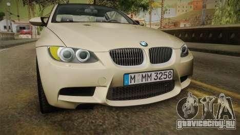 BMW M3 E92 2012 Itasha PJ для GTA San Andreas вид сверху