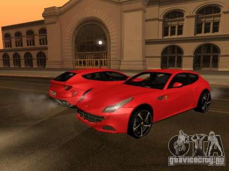 Ferrari FF 2012 Armenian для GTA San Andreas вид изнутри