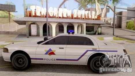 Dundreary Admiral Hometown PD 2009 для GTA San Andreas