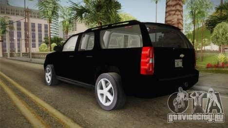 Chevrolet Suburban 2009 Flashpoint для GTA San Andreas вид слева