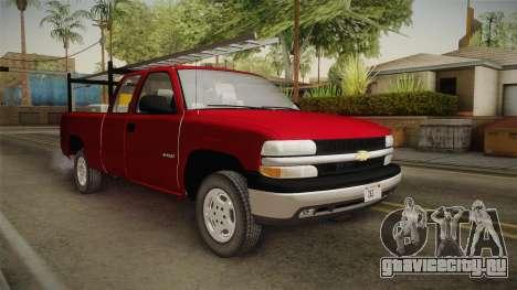 Chevrolet Silverado Work Truck 2001 для GTA San Andreas вид справа