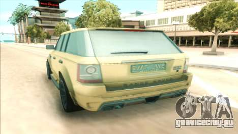 Range Rover Arden Design для GTA San Andreas вид справа