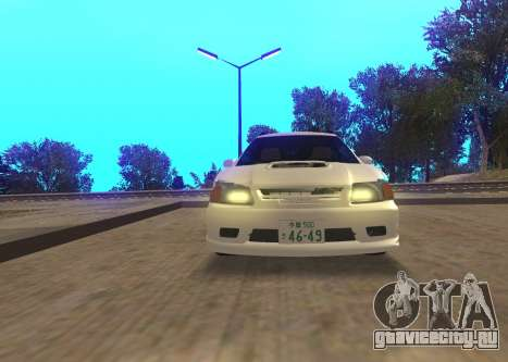 Toyota Caldina для GTA San Andreas вид сзади