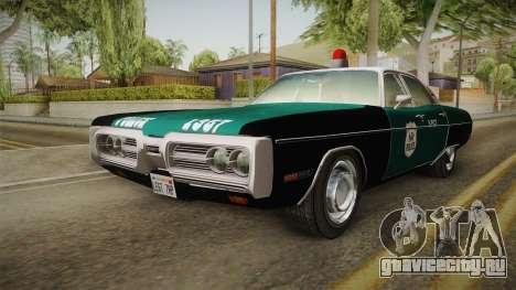 Plymouth Fury I NYPD для GTA San Andreas