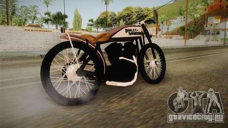 Harley-Davidson V Twin Racer 1916 для GTA San Andreas вид слева