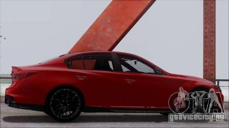 Infinity Q50 для GTA San Andreas вид сбоку