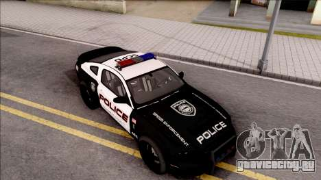 Ford Mustang GT High Speed Police для GTA San Andreas вид справа