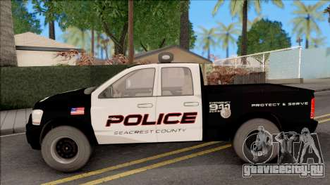Dodge Ram High Speed Police для GTA San Andreas вид слева