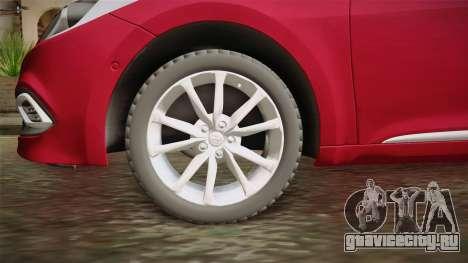 Hyundai Azera 2016 для GTA San Andreas вид сзади