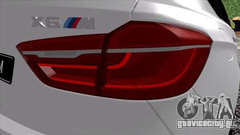 BMW X6M F86 для GTA San Andreas вид справа