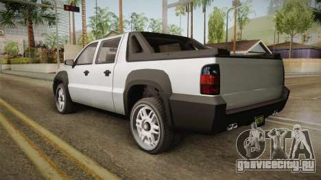 GTA 5 Declasse Granger Pickup для GTA San Andreas вид справа