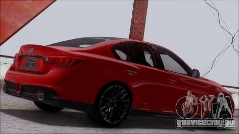 Infinity Q50 для GTA San Andreas вид изнутри
