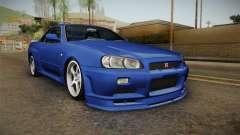 Nissan Skyline GT-R34 Tunable для GTA San Andreas