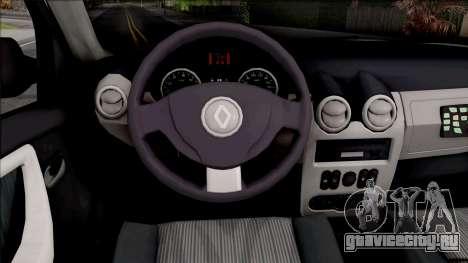 Renault Duster Spanish Police для GTA San Andreas вид изнутри