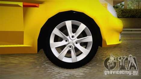 Hyundai Accent 2011 для GTA San Andreas вид сзади