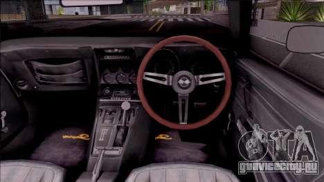 Chevrolet Corvette C3 Stingray для GTA San Andreas вид изнутри