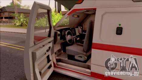 Ford E-350 SFFD San Francisco Ambulance для GTA San Andreas