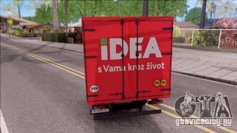 Zastava Daily 35 Transporter для GTA San Andreas вид сзади слева