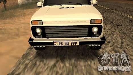 Lada Niva Urban Armenian для GTA San Andreas вид сбоку