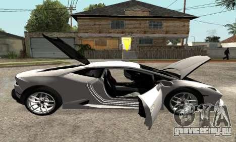 Lamborghini Huracan 2014 Armenian для GTA San Andreas вид снизу