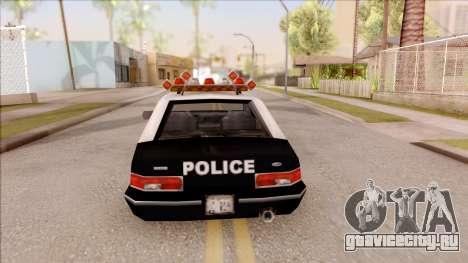 Police Car from GTA 3 для GTA San Andreas вид сзади слева