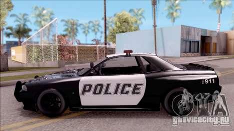 GTA V Annis Elegy Retro Interceptor для GTA San Andreas вид слева