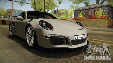 Porsche 911 GT3 RS 2015 для GTA San Andreas вид справа
