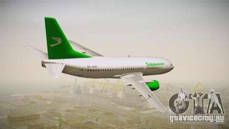 Boeing 737-300 Turkmenistan Airlines для GTA San Andreas вид слева