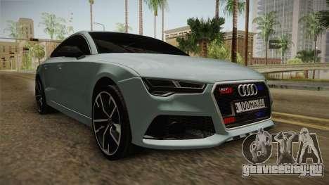 Audi RS7 для GTA San Andreas вид справа