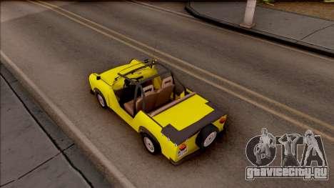 Trabant 601 Kübelwagen для GTA San Andreas вид сзади