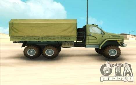 Урал NEXT Военный для GTA San Andreas вид слева