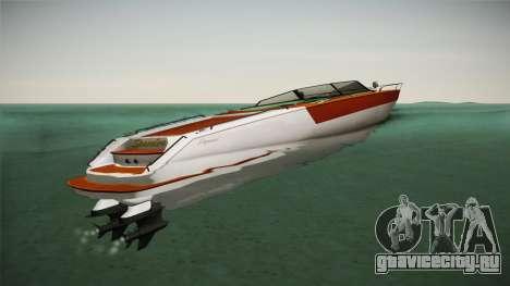 GTA 5 Speeder для GTA San Andreas вид сзади слева