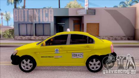 Hyundai Accent Taxi Colombiano для GTA San Andreas вид слева