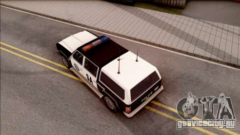 Police Rancher 4 Doors для GTA San Andreas вид сзади